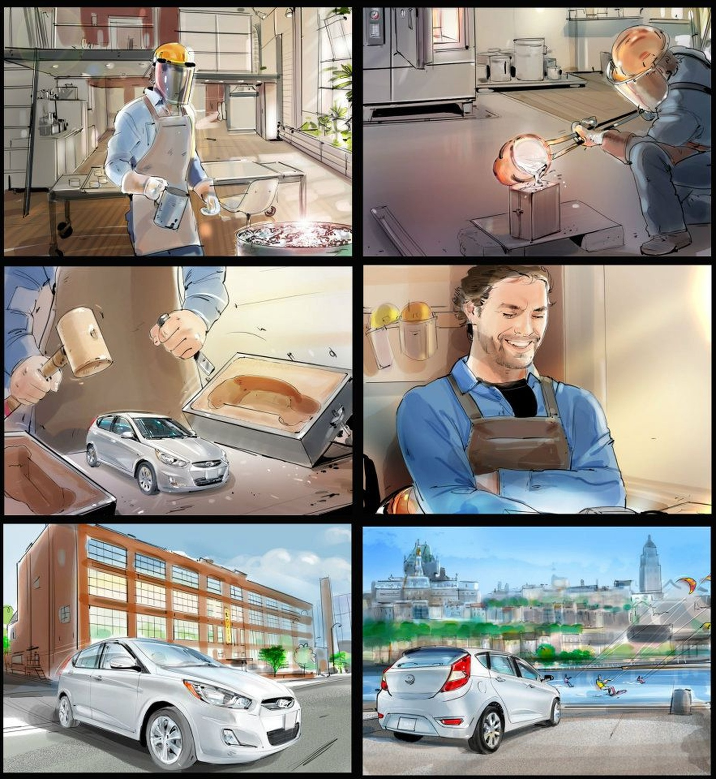 François Couture - storyboard Hyundai
