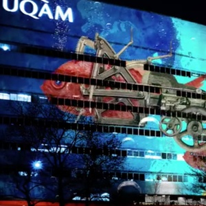 Projection mur UQAM