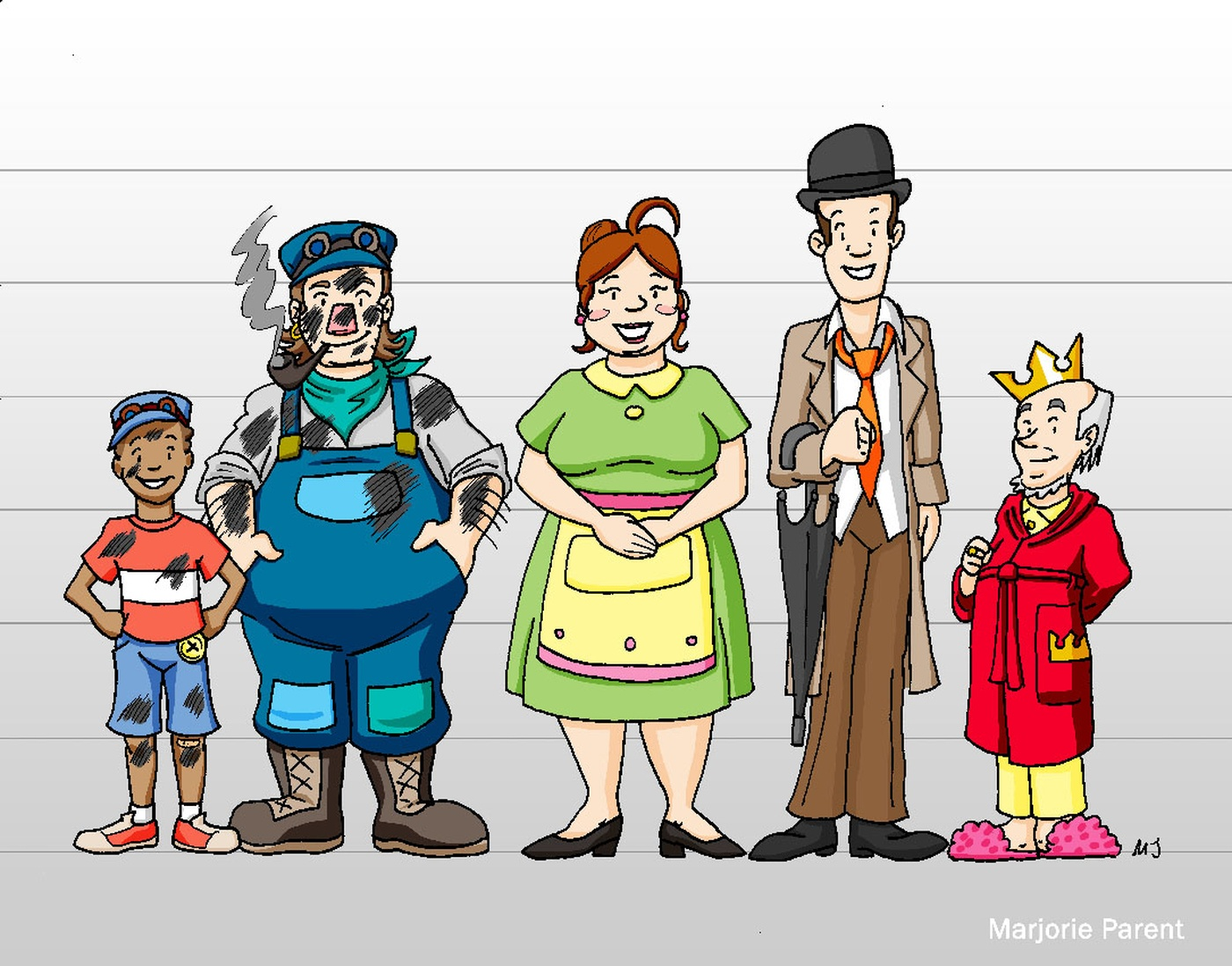 Marjorie Parent - Jim Button Concept Characters (Lummerland)