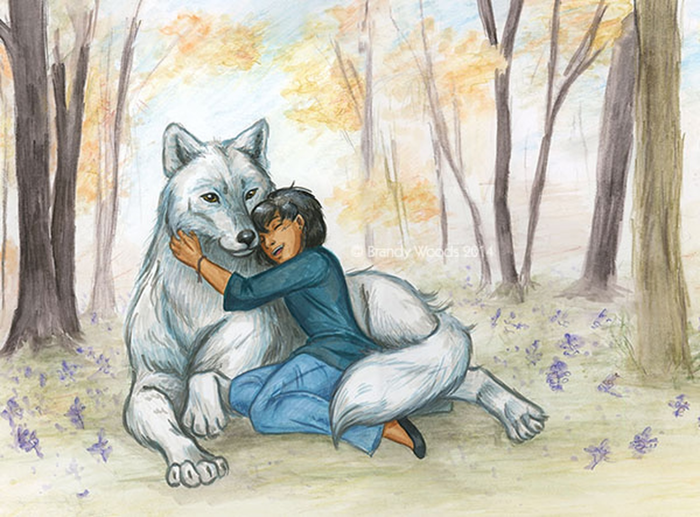 Illustration Quebec Brandy Woods Brother Wolf Storybook